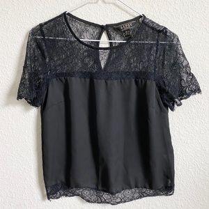 Lipsy London Black Lace Short Sleeve Top 4